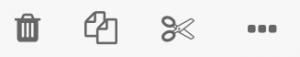 icône d'action sur les dossiers ou fichiers